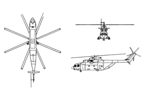 Mil Mi-26 3-view drawing
