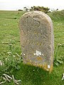 Milestone on West High Down, Totland - geograph.org.uk - 53721.jpg