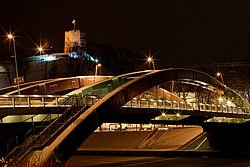 Mindaugas bridge at night.jpg