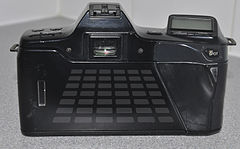 Minolta Dynax 7000i Analogue Film Camera, With Sigma 28-70mm Lens (8743122981).jpg