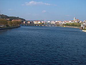 Tua River - The Tua as it crosses Mirandela