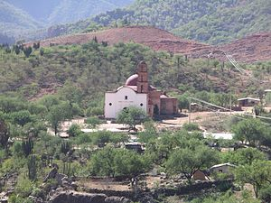 "Batopilas, Chihuahua - The Satevo Mission near Batopilas, often called the ""Lost Mission"" (2005)."