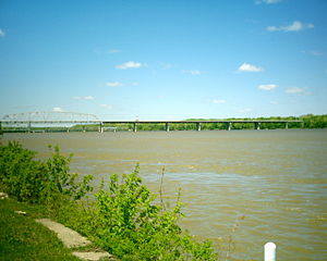 Hannibal, Missouri - The Mississippi River at Hannibal