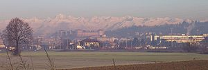 Moncalieri - Panorama of Moncalieri in the mist