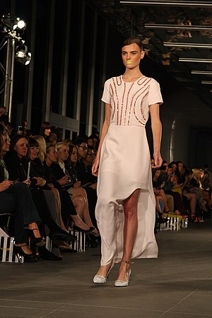 Australian Fashion Week - Montana Cox showcasing designs by Magdalena Velevska at the Australian Fashion Week Spring Summer 2012/2013 in Sydney