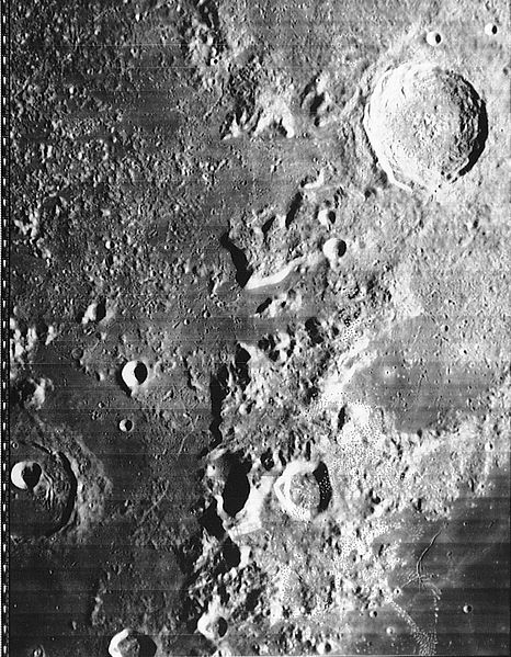 Горы Кавказ и кратер Евдокс