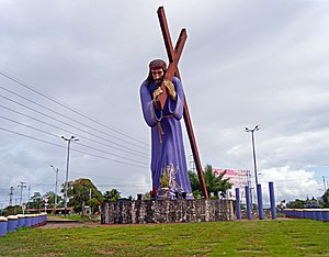 Caripito - Nazareno monument on Caripito