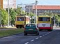 Most, tř. Budovatelů, od Centrálu k severu, tramvaj a autobus (01).jpg