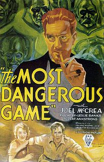 <i>The Most Dangerous Game</i> (film) 1932 film by Ernest B. Schoedsack, Irving Pichel