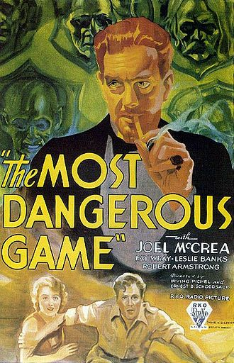 The Most Dangerous Game - Theatrical release poster for The Most Dangerous Game (1932)