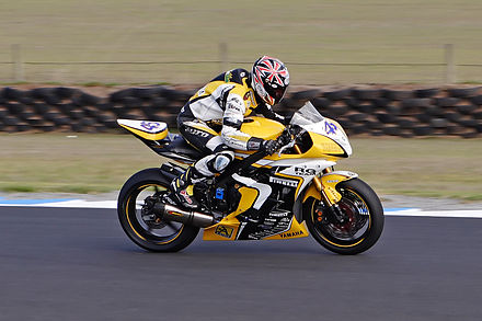 Gianluca Vizziello riding the RG Team Yamaha YZF-R6 at Phillip Island Motorcycle phillip island.jpg