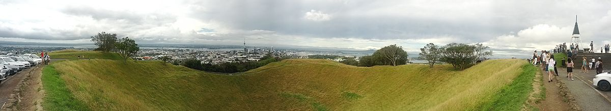 Panorama of Mt. Eden Crater