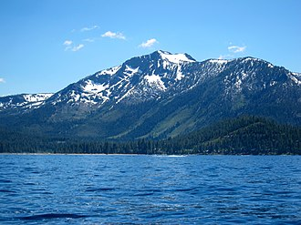 Sierra Nevada (U.S.) - Mount Tallac above Lake Tahoe