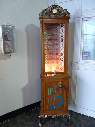 Love tester machine - A vintage Love Tester machine at Musée Mécanique