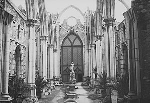 Carmo Convent (Lisbon) - A view of the museum between 27 October 1905 and circa January 1915