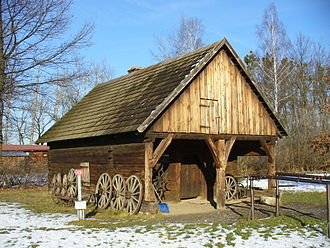 Forge - Wooden smithy built in 1726 in Opole, Upper Silesia, Poland
