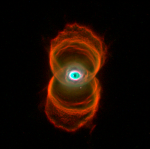 The Hourglass Nebula (MyCn18) is a young plane...