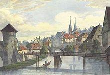 Nürnberg Henkersteg Karlsbrücke Alexander Richard Marx 001.jpg