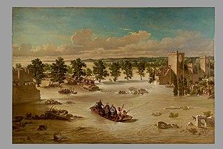 Napoléon III visitant les inondés