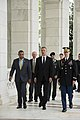 NATO secretary general participates in wreath laying ceremony at the Tomb of the Unknown Soldier in Arlington National Cemetery (33996534655).jpg
