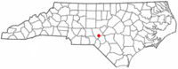 Location of Southern Pines, North Carolina