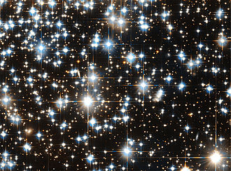 Diffraction spike - Diffraction spikes from various stars seen on an image taken by the Hubble space telescope