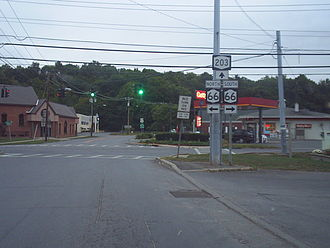Chatham (village), New York - Chatham's sole signalized intersection