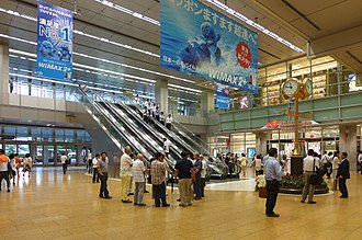 Nagoya Station - The Sakuradori Exit concourse in July 2014