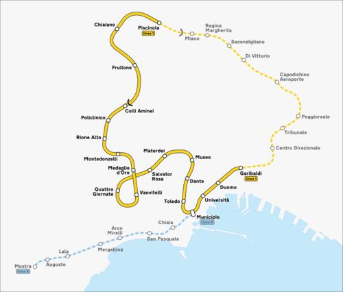 Napoli Subway Map.List Of Naples Metro Stations Wikipedia