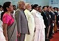 Narendra Modi, the Governor of Tamil Nadu, Shri Banwarilal Purohit, the Union Minister for Defence, Smt. Nirmala Sitharaman, the Chief Minister of Tamil Nadu.jpg