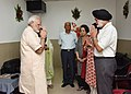 Narendra Modi visited Marshal of the Indian Air Force Arjan Singh who is critically ill following a cardiac attack and also met his family members, at Army Hospital (Research and Referral), in New Delhi (1).jpg