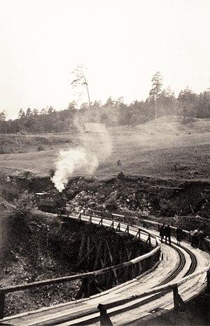 Capture of Olovo (1941) - The image of the wooden bridge on Olovo-Kladanj railway taken in 1942