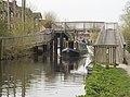 Narrowboat coming through (4510713997).jpg