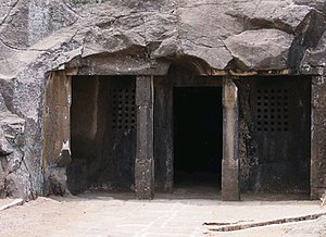 Satavahana dynasty - Cave No.19 of Satavahana king Kanha at the Nasik caves, 1st century BCE.