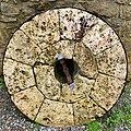 Nathan Cooper Gristmill, Chester Township, NJ - millstone detail.jpg