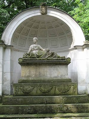Natolin - Sarcophagus and monument to Natalia Sanguszkowa, née Potocka.