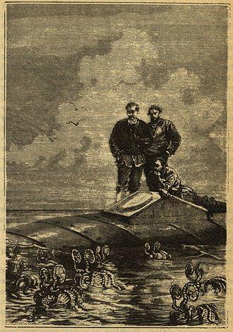 Argonaut (animal) - Argonauts surrounding the Nautilus, in Jules Verne's novel Twenty Thousand Leagues Under the Sea