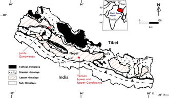 Lesser Himalayan Strata - Geography of Gondwana Units in Western and Central Nepal