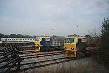 Network Rail trejnas en la apudrelvojoj, Tonbridge - geograph.org.uk - 1515533.jpg