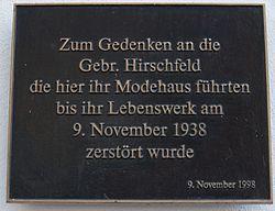 Photo of Gebr. Hirschfeld black plaque