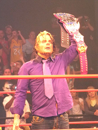 "Impact Global Championship - Jeff Hardy with the second title belt design, dubbed the ""Immortal Championship"""