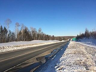 New Brunswick Route 11 Highway in New Brunswick