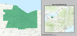 New Yorks 25th congressional district U.S. House District centered on Rochester, NY