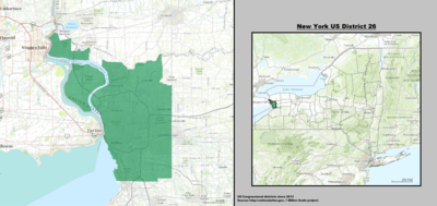 New York 's 26th congressional district - since January 3, 2013.