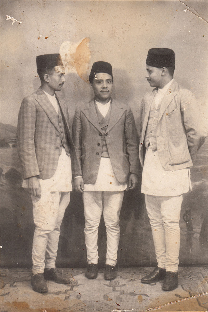 Newar gentlemen of Kathmandu 1940.jpg