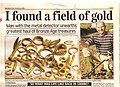 Newpaper report at the time on the Poulton hoard.jpg