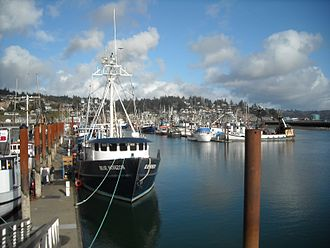 Oregon Coast - Harbor in Yaquina Bay, Newport, Oregon.