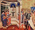 Niccolò Semitecolo - Due cristiani davanti ai giudici, 1367 - Cattedrale, Padova.jpg