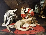 Saint Sebastian Tended by Irene and Her Maid by Nicolas Régnier