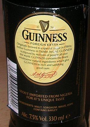 Guinness Nigeria - Image: Nigerian Guinness back